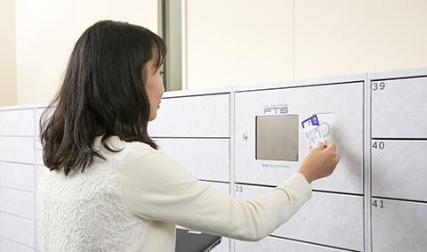 学生証をロッカーの操作カードとして使用